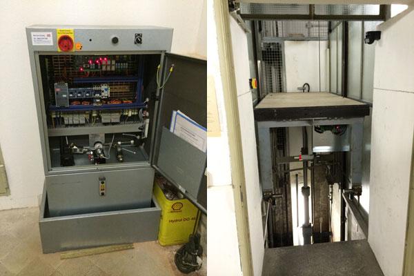 Aufzugsteuerung MLC-8000 Sargversenkungsanlage